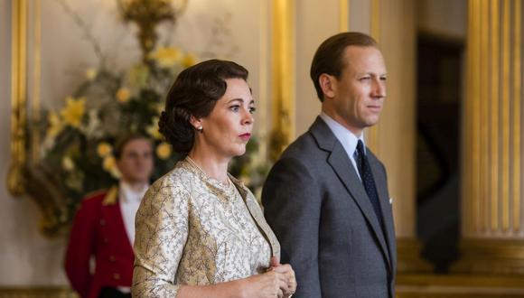 "En ""The Crown"" Temporada 3 Olivia Colman (Isabel II) y Tobias Menzies (Felipe) reemplazan a Claire Foy y Matt Smith. Foto: Netflix."