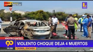Áncash: Violento choque deja 4 muertos