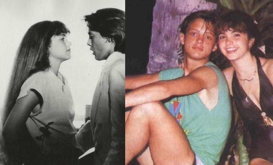"""Luis Miguel y Lucero cuando rodaron la película """"Fiebre de Amor"""" en 1985."""