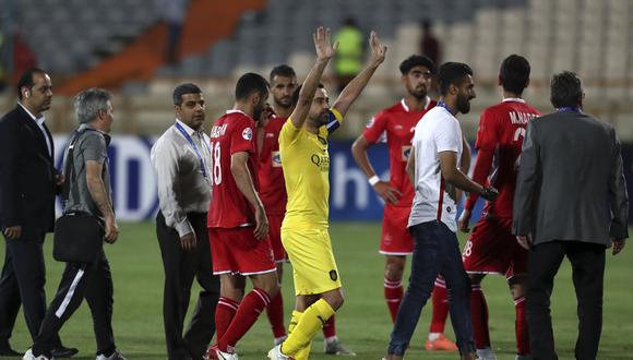 Xavi Hernández cerró su carrera deportiva con una derrota del Al Sadd en Irán.   Foto: Agencias