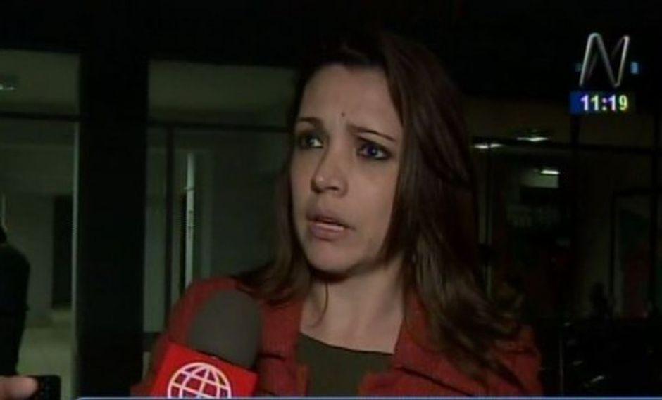 Melissa Peschiera, quien denunció el último fin de semana, el acoso constante que sufre por parte de José Carlos Andrade Beteta. (Captura: Canal N)