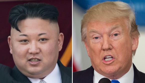 Donald Trump, presidente de Estados Unidos, y el líder de Corea del Norte Kim Jong-un. (AFP).