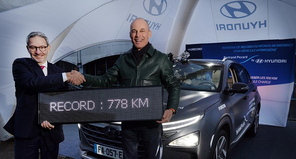 Piccard recorrió 778 km a bordo del Hyundai Nexo. (Foto: Hyundai)