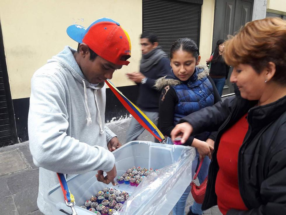 Venezolanos en Jirón de la Unión