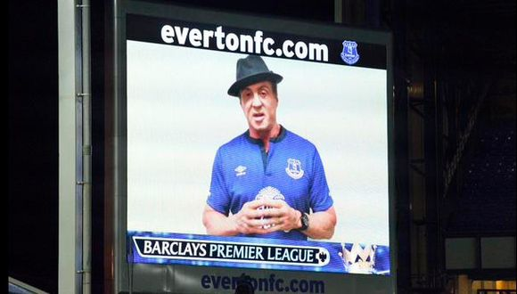 """""""Rocky Balboa"""" fue invitado de lujo en la Premier League"""