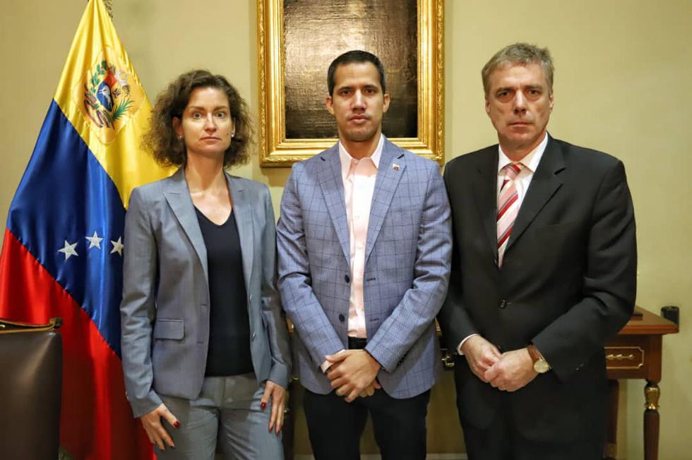Guaidó se reúne con embajador alemán expulsado de Venezuela por Maduro. Foto: Twitter @jguaido