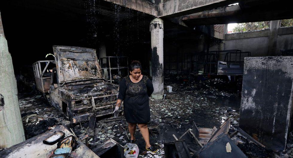 Según la versión de los bomberos de Nicaragua y de los vecinos, la vivienda sufrió un incendio intencional. (AFP).