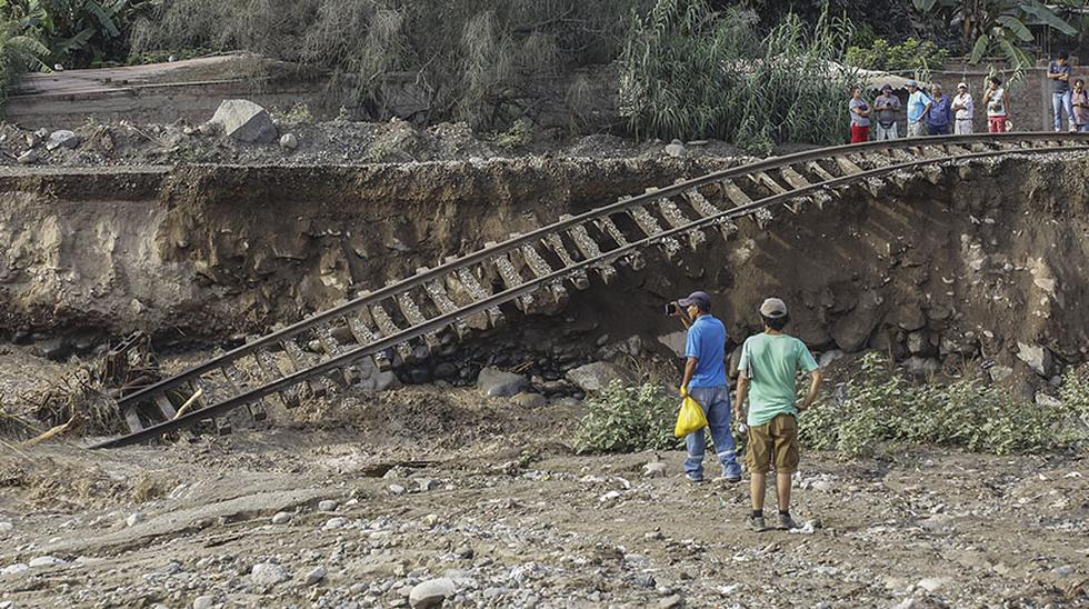 Chaclacayo: el destructor paso de río Rímac sobre vías del tren - 12