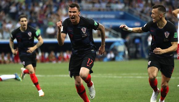 El artillero de Croacia aprovechó una serie de errores de la defensa de Dinamarca para firmar el 1-1 del encuentro válido por los octavos de final de la Copa del Mundo 2018. (Foto: AFP)