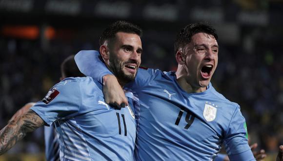 Gastón Pereiro anotó el tanto agónico para Uruguay. (Foto: AFP)