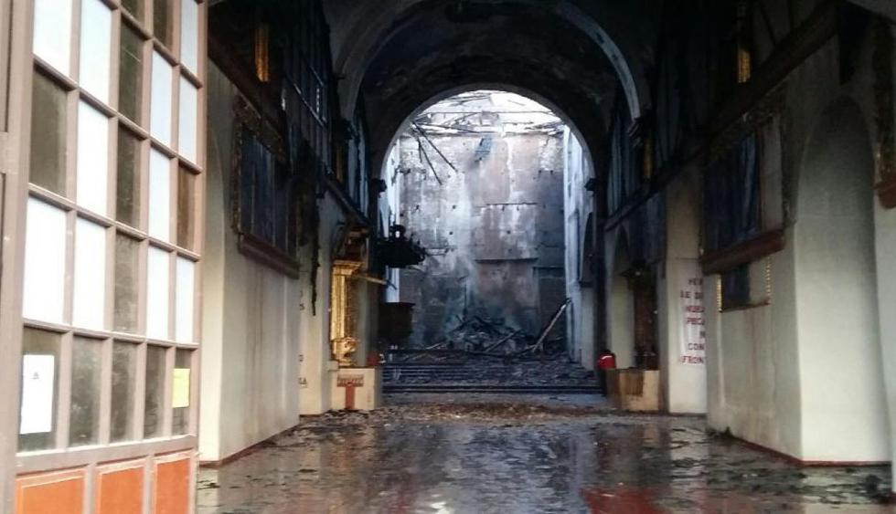 Cusco: el incendio que destruyó el 80% de la iglesia de San Sebastián   FOTOS