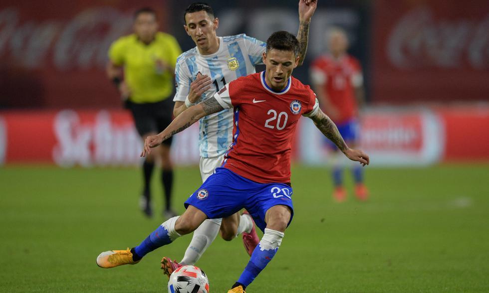 Argentina y Chile se enfrentaron por la jornada 7 de las Eliminatorias Qatar 2022 | Foto: AFP