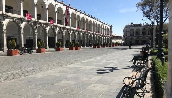 Este año no habrá festejos por el aniversario de Arequipa, solo actos protocolares y serenata virtual. (Foto: Zenaida Condori)
