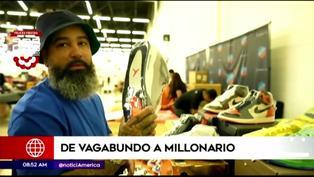 EEUU: conoce la historia de un vagabundo que se hizo millonario vendiendo zapatillas