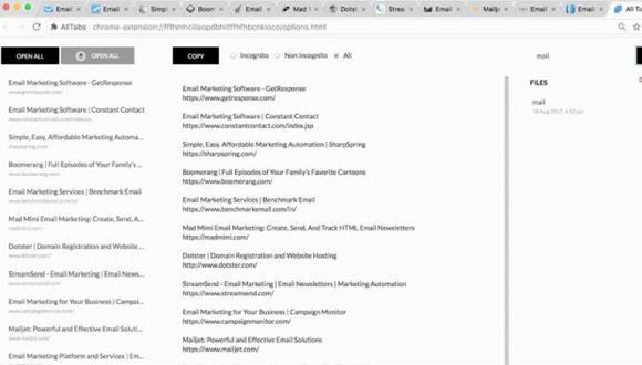 La herramienta ayuda a gestionar las pestañas abiertas en Google Chrome. (Foto: All Tbas)