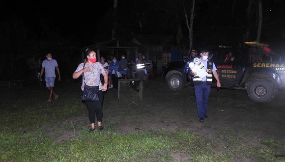 Vecinos de la comunidad de Madama alertaron que la reunión se desarrollaba en casa de Ana Isabel Cáceres, pareja de uno de los funcionarios. (Foto: PNP)