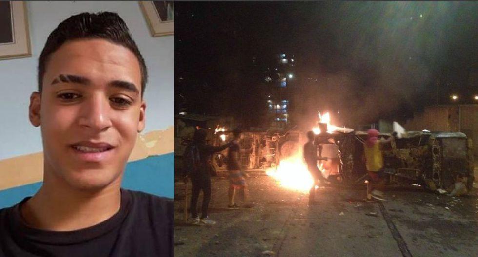 El adolescente Alixon Pizani, de 16 años, falleció tras ser herido con arma de fuego en medio de una de las protestas contra Nicolás Maduro que se registraron anoche en Caracas.