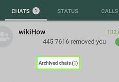 WhatsApp: esta es la razón por la que no debes 'archivar' tus conversaciones   Tutorial