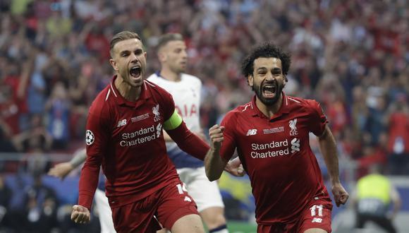 Liverpool vs. Tottenham: Salah marcó el 1-0 en la final con penal cobrado al minuto de juego. (Foto: AP)