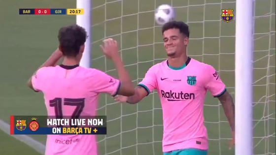Gol Philippe Coutinho En Barcelona Vs Girona En Vivo El Tanto Del Brasileno Tras Genial Pase De Lionel Messi Espana Video Nczd Deporte Total El Comercio Peru