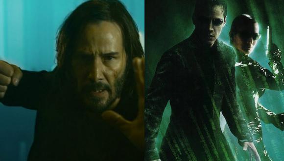 """A la izquierda, una de las primeras imágenes de """"The Matrix Resurrections"""" (2021). A la derecha, el póster de """"Matrix Revolutions"""" (2003), final de la trilogía original. Fotos: Warner Bros."""