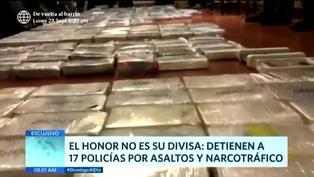Interviene a 17 policías por narcotráfico y asalto
