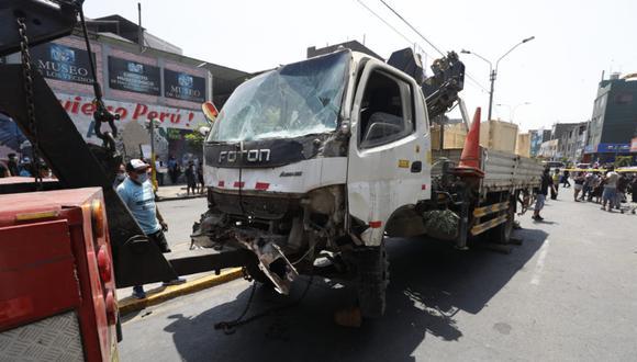 Se conoció que el chofer del camión fue intervenido y trasladado a la comisaría de San Carlos. (Foto: Diana Marcelo/@photo.gec)