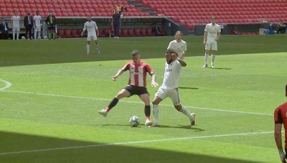 Dani García pisó a Marcelo y provocó el penal para el Real Madrid. (Foto: Movistar LaLiga)