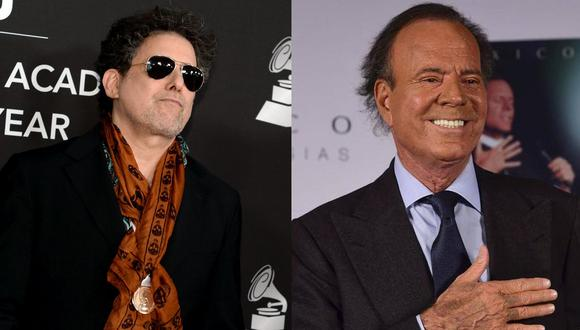 """Andrés Calamaro se une a Julio Iglesias para una versión de su canción """"Bohemio"""". (Fotos: AFP)"""