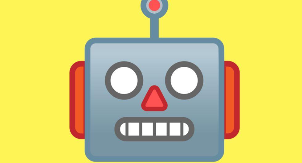 ¿Sabes realmente qué significa el emoji del robot de WhatsApp? Este es lo que quiere decir si lo envías a alguien. (Foto: Emojipedia)