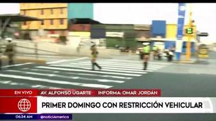 Así luce Lima en el primer domingo con restricción vehicular