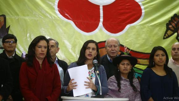 Una nueva alianza izquierdista volvió a funcionar en el 2016 con el Frente Amplio, pero su candidata presidencial, Verónika Mendoza, decidió separarse un año después y crear Nuevo Perú. (Foto: GEC)