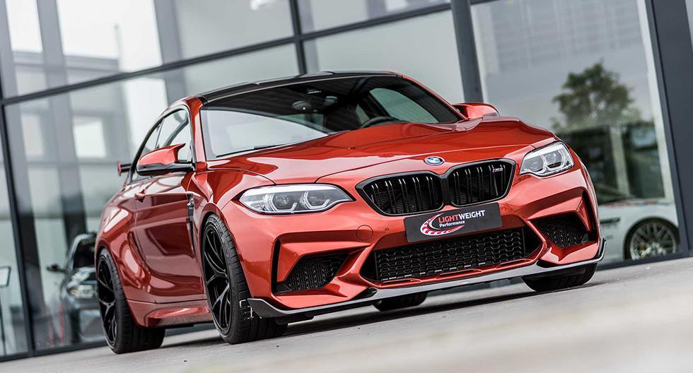 El BMW M2 Competition logra ganar 83 hp y alcanzar una velocidad tope de 303 km/h gracias al trabajo del preparador germano. (Foto: Lightweight Performance).