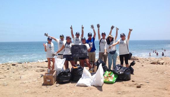 HAZla por tu playa, iniciada en el 2013,  es la campaña nacional de limpieza de playas más grande del Perú.