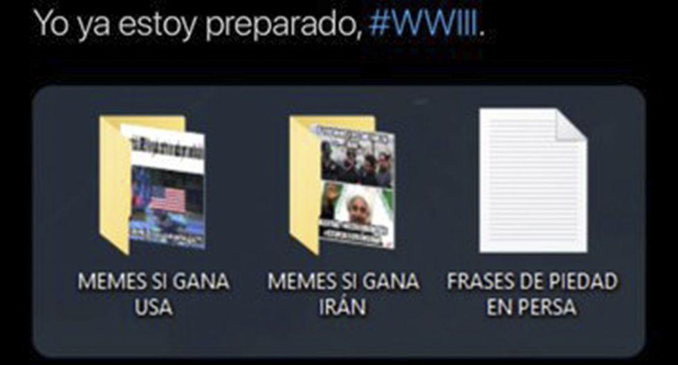 """Las redes sociales se preparan para la """"Tercera Guerra Mundial"""" con memes. Los ingeniosos tuits se originaron a raíz del conflicto entre Estados Unidos e Irán. (Facebook)"""