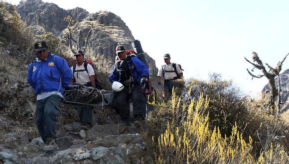 Arequipa, 25 de octubre del 2011Rescate del cuerpo de Ciro Castillo Rojo Garcia.Foto: Rolly Reyna / EL COMERCIO