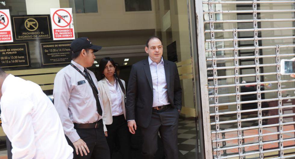 Mark Vito a la salida de la sede del equipo especial Lava Jato tras diligencia. (Foto: Anthony Niño de Guzmán)