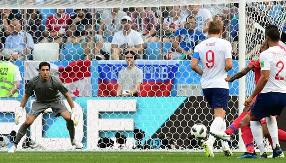 Panamá vs. Inglaterra: Harry Kane alcanzó hat-trick tras gol de rebote en el Mundial Rusia 2018. (Foto: AFP)