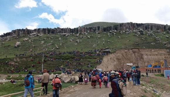 Las Bambas: inicia paro indefinido en Challhuahuacho