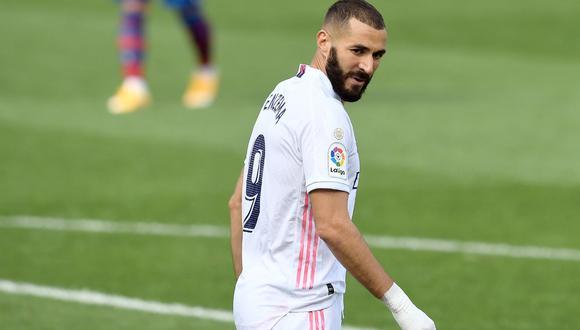 Karim Benzema alcanzó los 250 goles con la camiseta del Real Madrid | Foto: AFP