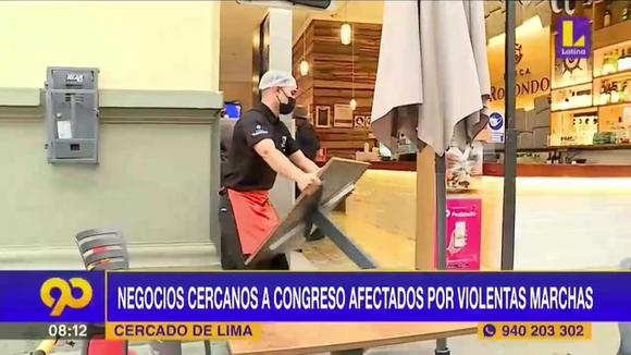 Violent marches affect businesses in Lima