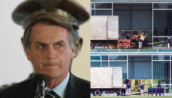 En su nueva residencia, el ultraderechista Jair Bolsonaro no quiere nada rojo a la vista. (EFE / O'Globo)