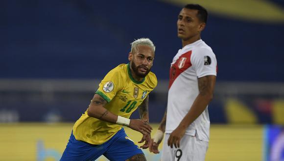 Perú recibió cuatro goles de Brasil en su debut de la Copa América 2021 y es el colero del Grupo B (Foto: AFP)