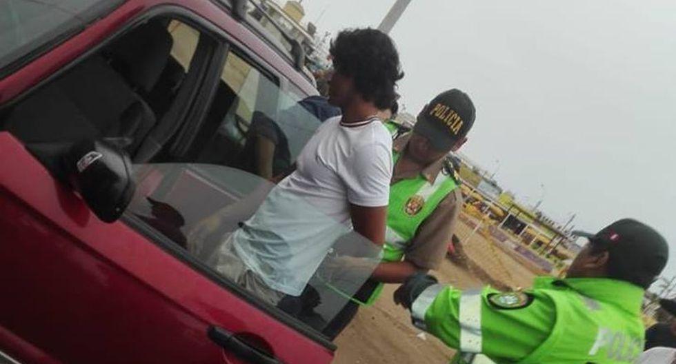 Nicolás Osorio Gallegos salía de un local de Punta Negra acompañado por dos jóvenes cuando causó accidente en la antigua Panamericana Sur.  (Municipalidad de Punta Negra)