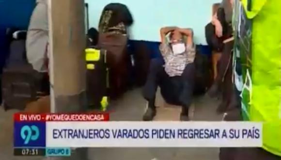 Niños, ancianos, jóvenes, están a la espera de poder retornar a sus países. (Foto captura: Latina)