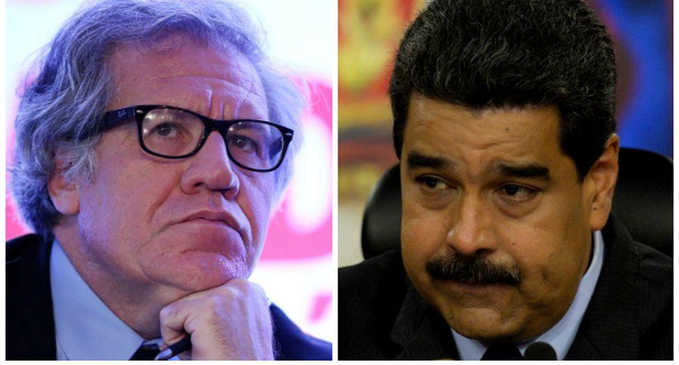 Luis Almagro, secretario general de la OEA, y el presidente de Venezuela Nicolás Maduro. (Reuters / AFP).