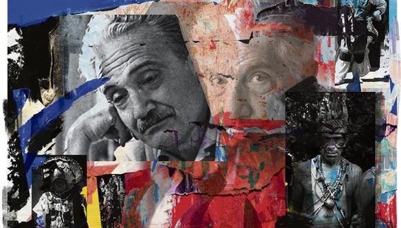 """""""Arguedas y Roa Bastos se conocieron en 1962, en el Primer Coloquio de Escritores Iberoamericanos y Alemanes, organizado por la revista 'Humboldt', en Berlín occidental"""". (Ilustración: Giovanni Tazza)."""