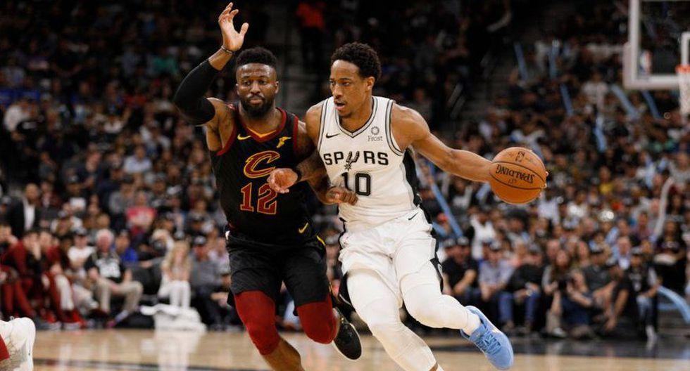 San Antonio sufrió pero derrotó por 116-110 a los Cleveland Cavaliers en el AT&T Center, en Texas por la NBA. Tras el juego se le retirará la camiseta número 20 al argentino Manu Ginóbili (Foto: AFP)