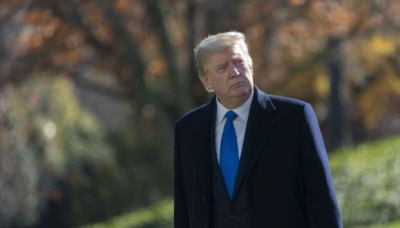 El presidente de Estados Unidos, Donald Trump, regresa a la Casa Blanca tras pasar el fin de semana de Acción de Gracias en Camp David, en Washington, D.C, Estados Unidos. (EFE/Chris Kleponis).