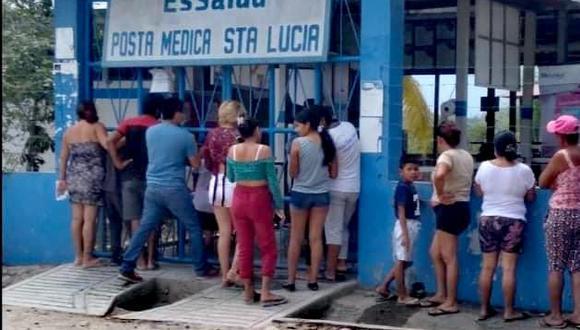 Los policías heridos y los civiles afectados fueron llevados de emergencia al centro de salud de este distrito. (Foto:Tingo María Noticias)